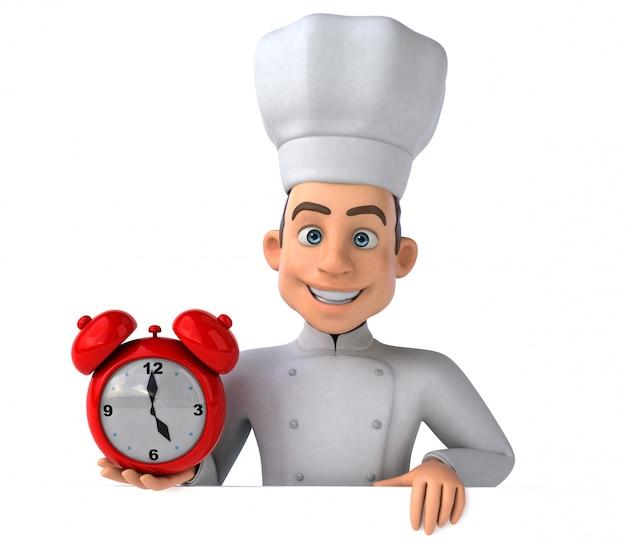 Divertente animazione da chef Foto Premium