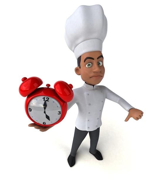 Illustrazione del cuoco unico divertente Foto Premium