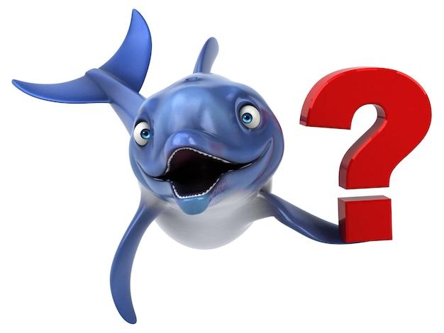 Divertente illustrazione dei delfini Foto Premium