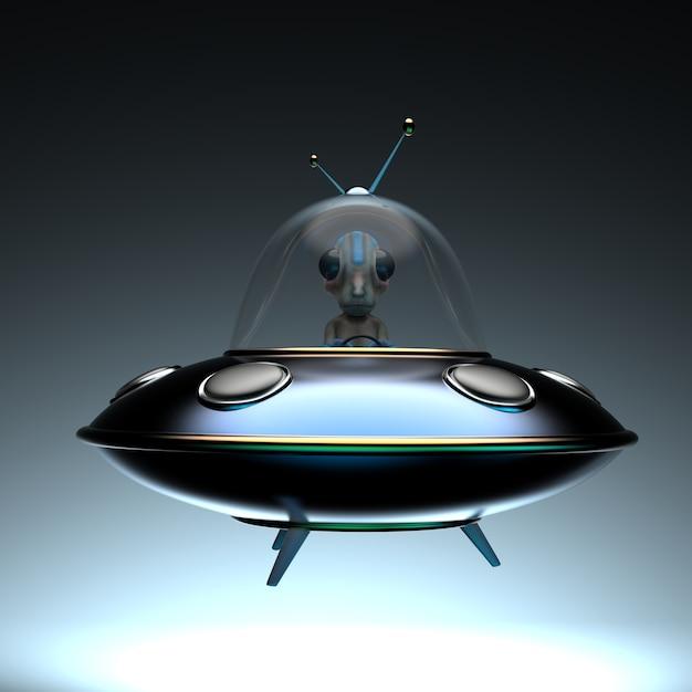 Illustrazione divertente di un alieno Foto Premium