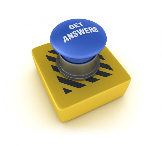 Ottieni risposte pulsante Foto Premium
