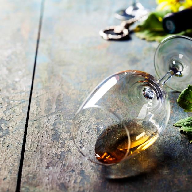 Bicchiere di vino bianco Foto Premium
