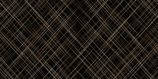 Stelle scintillanti in oro linee astratte e luci dorate che scorre luce cortina con bokeh scintilla sfondo Foto Premium