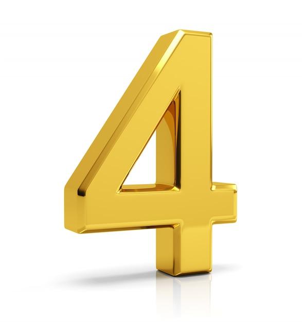 Numero d'oro 4 Foto Premium