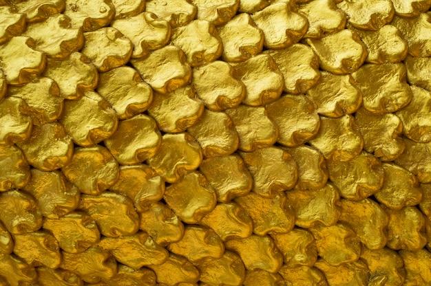 Sfondo muro d'oro Foto Premium