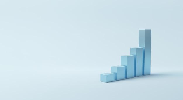 Grafico per il successo della crescita. Foto Premium