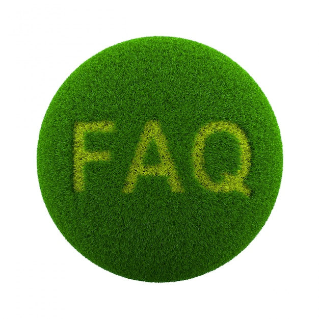 Icona faq di grass sphere Foto Premium