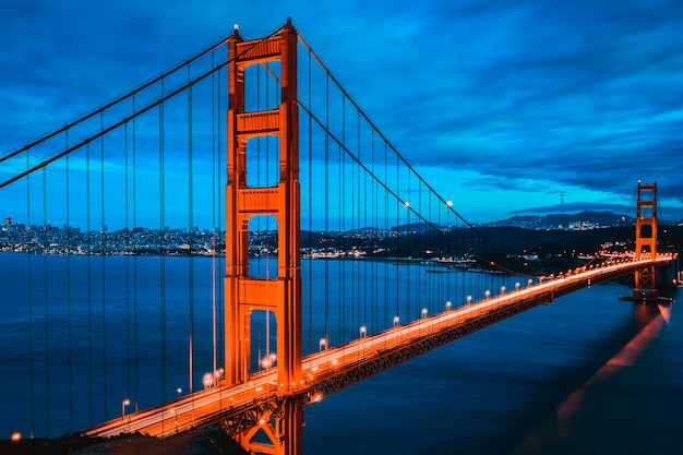 Great golden gate bridge, san francisco, california, usa Foto Premium