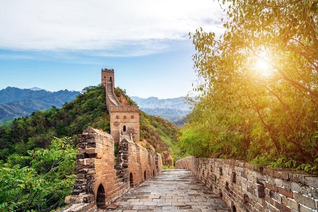 La grande muraglia cinese. Foto Premium
