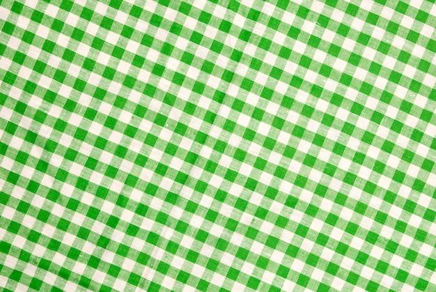Sfondo di tovaglia a scacchi verde Foto Premium