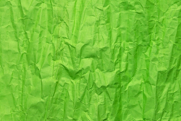 Texture di carta stropicciata verde, sfondo grunge Foto Premium