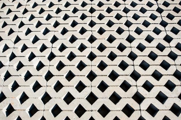 File lisce grigie di lastre di pavimentazione prese dall'alto Foto Premium
