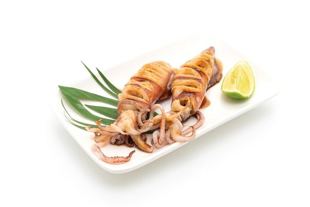 Calamari alla griglia con salsa teriyaki Foto Premium