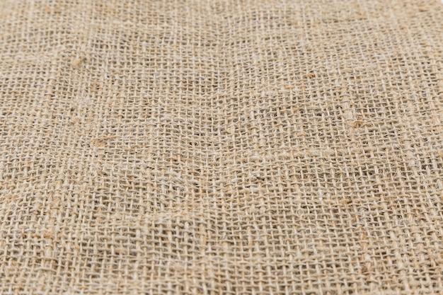 Sacco di iuta, hessian texture da fibre naturali utilizzare per lo sfondo Foto Premium