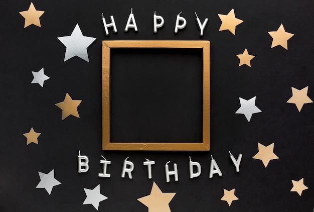 Messaggio di buon compleanno con cornice Foto Premium