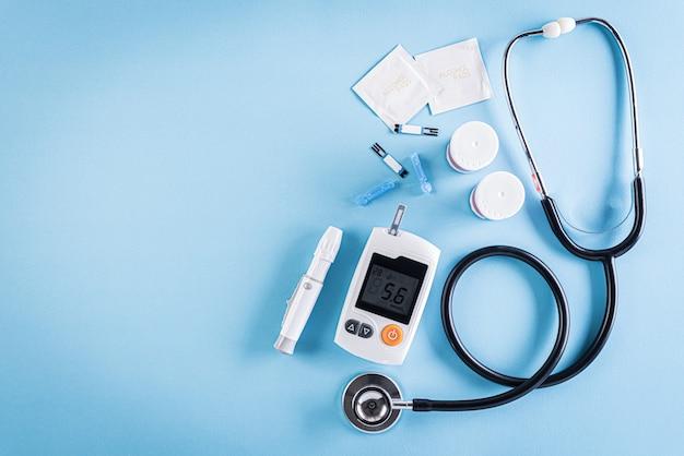Concetto di assistenza sanitaria e medica, giornata mondiale del diabete, 14 novembre. Foto Premium