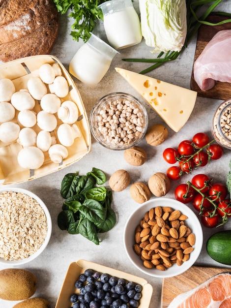 Ingredienti sani ed equilibrati. Foto Premium