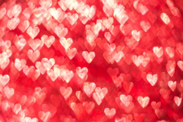 Fondo del bokeh del cuore, fondo di san valentino Foto Premium