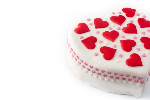 Torta di cuore per san valentino Foto Premium