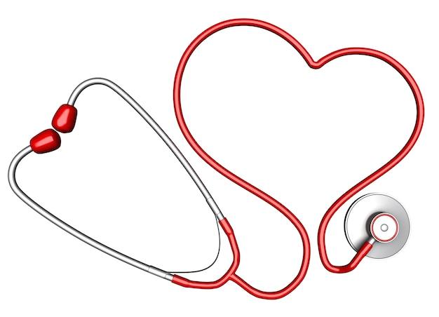 Stetoscopio a forma di cuore Foto Premium