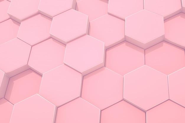 Esagono modello rosa astratto sfondo moderno. Foto Premium