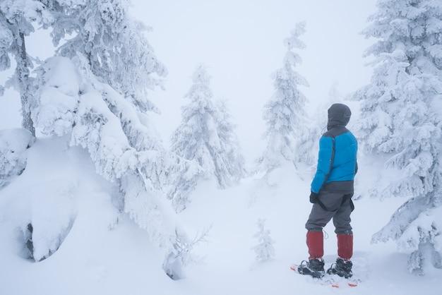 Escursioni in inverno con le ciaspole Foto Premium