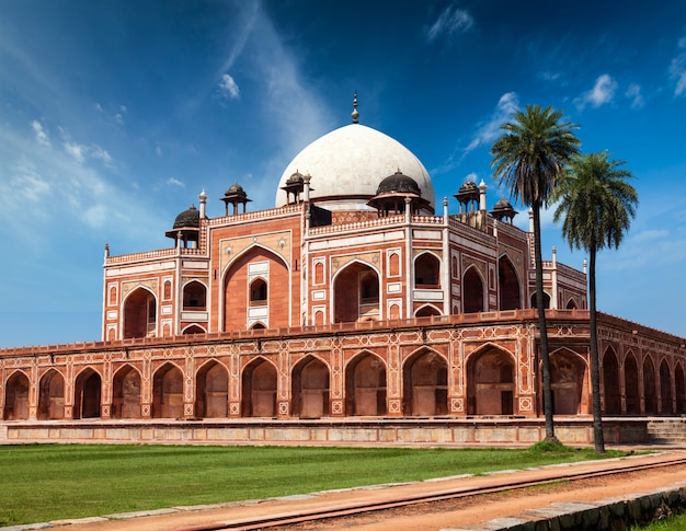 Tomba di humayun. delhi, india Foto Premium