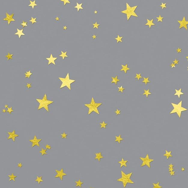 Stelle luminose sulla superficie ultimate grey Foto Premium