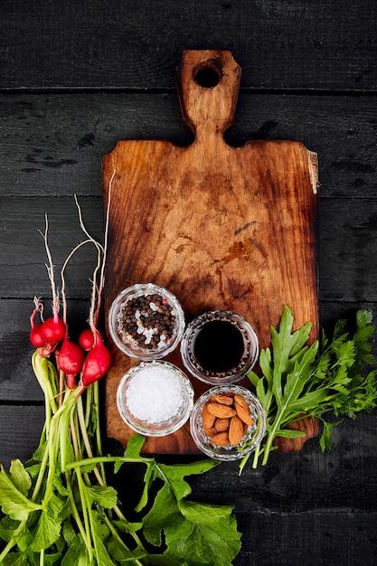 Ingrediente per insalata Foto Premium
