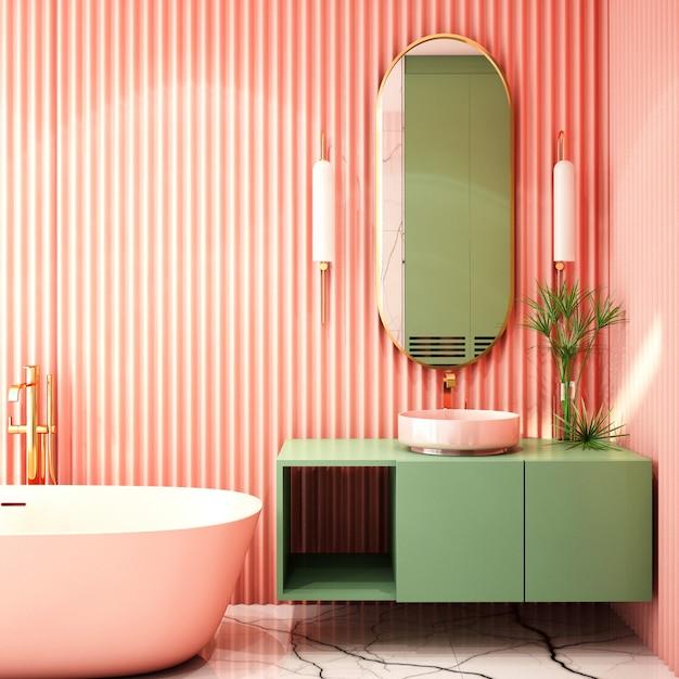 Interior design per bagno in stile contemporaneo Foto Premium