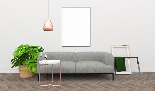 Interior mockup - decorazione in oro rosa Foto Premium
