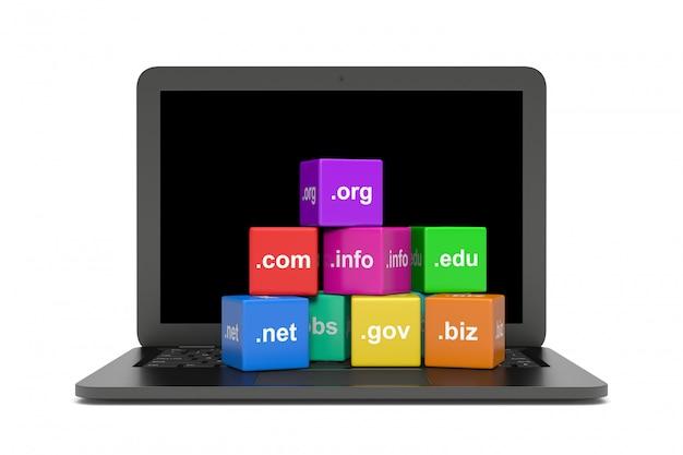Nomi di dominio internet Foto Premium