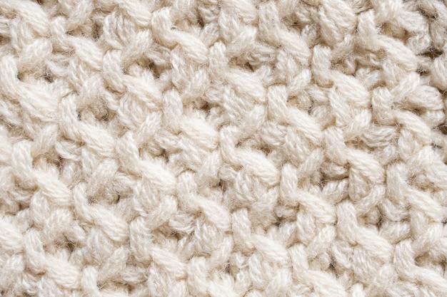 Trama del tessuto di lana lavorata a maglia Foto Premium