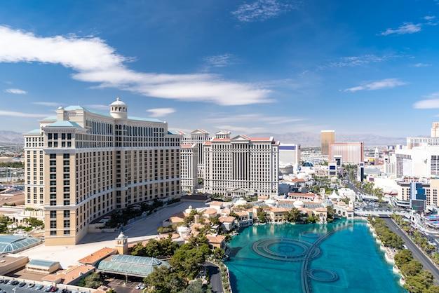Vista aerea della striscia di las vegas Foto Premium