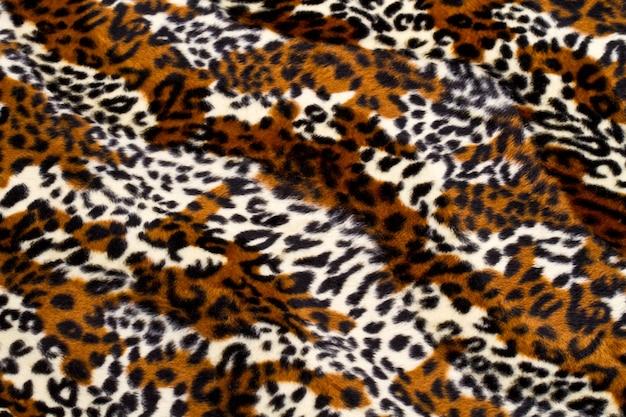 Sfondo del modello di pelle di leopardo Foto Premium