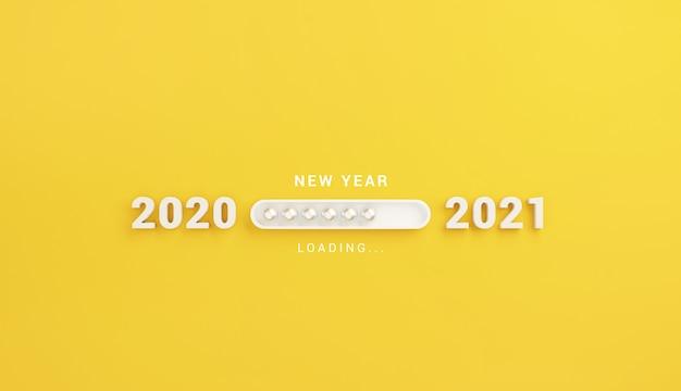 Caricamento del nuovo anno con barra di avanzamento. Foto Premium