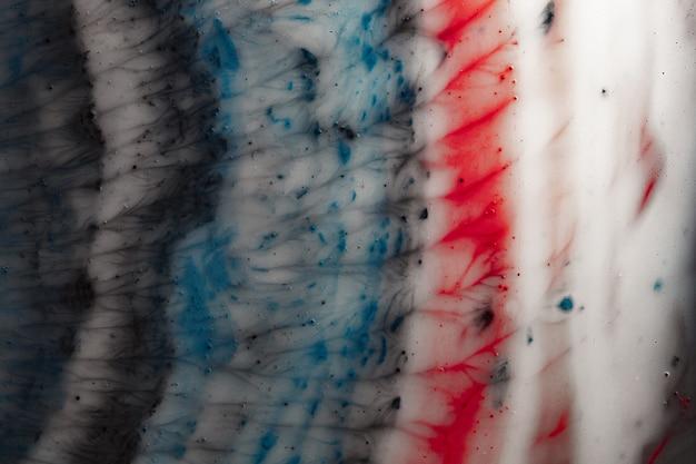 Macro di spazio colorato. bella astrazione di consistenza del liquido sotto ingrandimento. foto macro Foto Premium