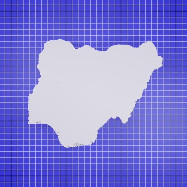 Mappa della nigeria rendering Foto Premium