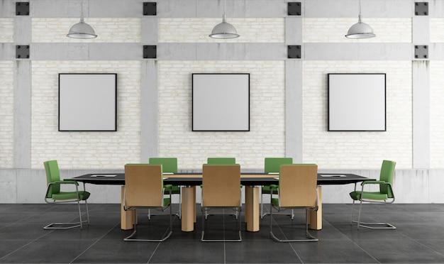 Sala riunioni in un loft Foto Premium