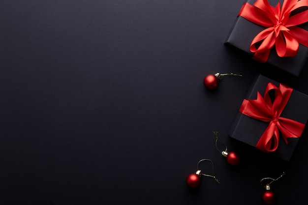 Cartolina d'auguri di buon natale e buone feste, cornice Foto Premium