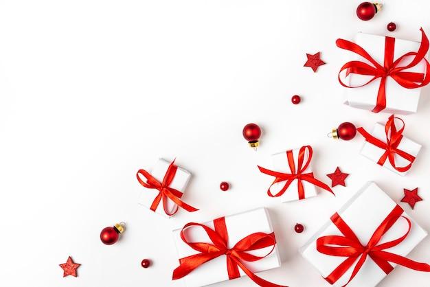 Buon natale e felice anno nuovo biglietto di auguri Foto Premium