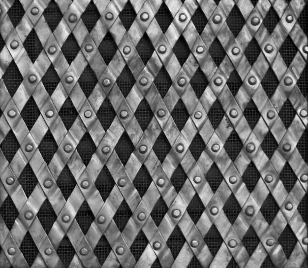 Sfondo di maglia metallica Foto Premium
