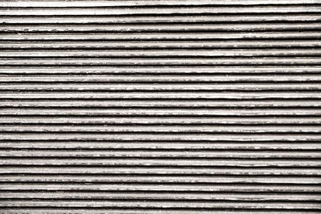 Linee orizzontali di sfondo metallico Foto Premium