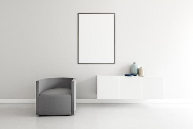 Camera minimale con mobili eleganti Foto Premium