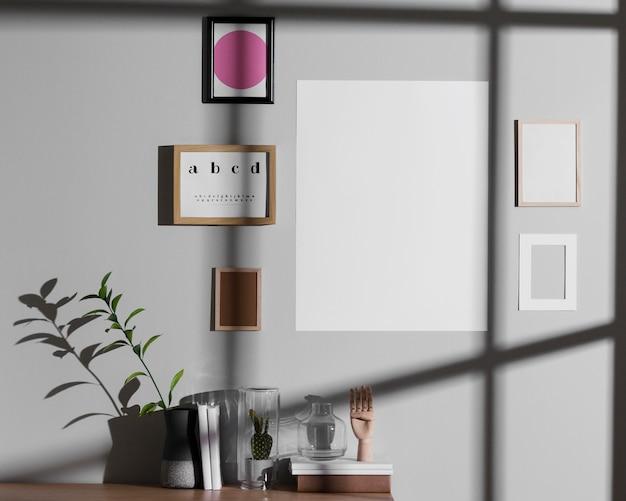 Interior design minimalista Foto Premium