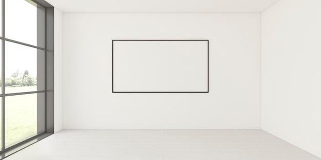 Interni minimalisti con elegante cornice Foto Premium