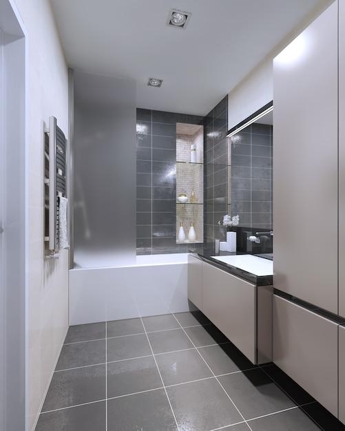 Design moderno del bagno Foto Premium