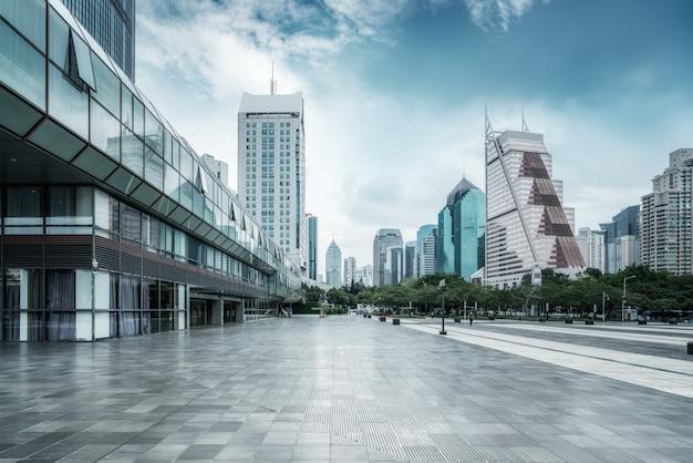 Paesaggio di architettura della città moderna Foto Premium