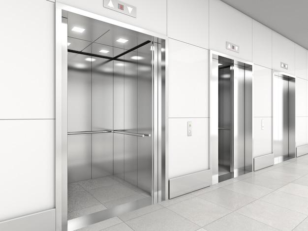 Moderno ascensore 3d Foto Premium