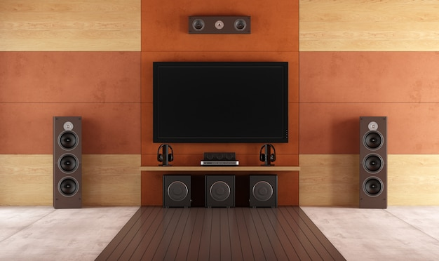 Moderna sala home theater Foto Premium